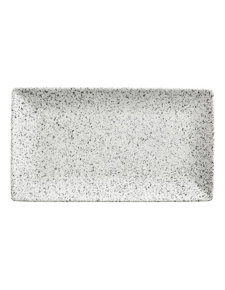 Caviar Speckle Rectangle Platter 34.5x19.5cm Cream image 1