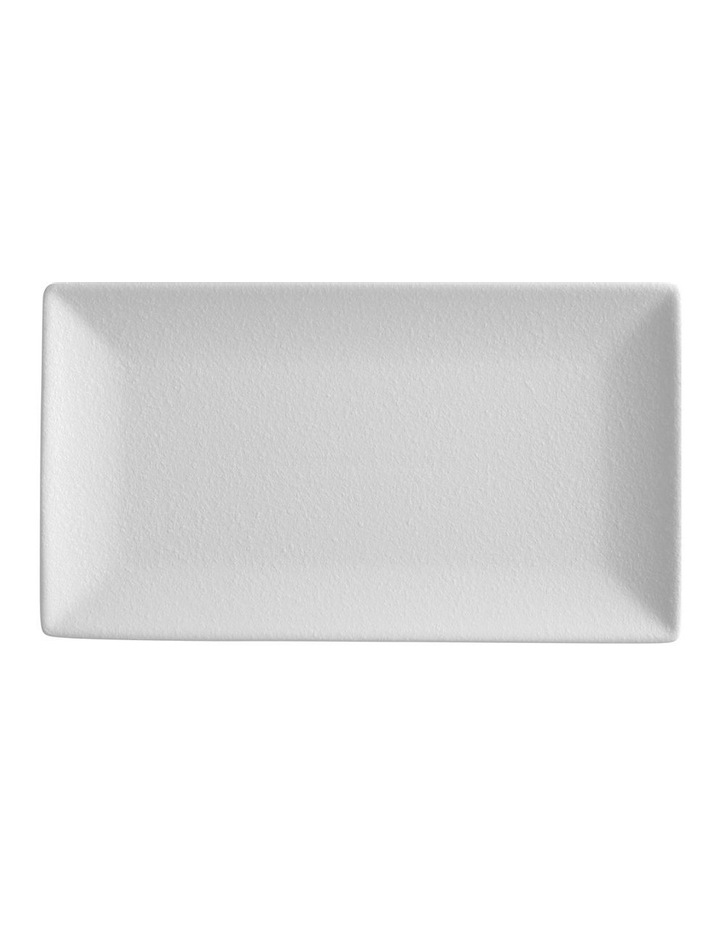 Caviar Rectangle Platter 34.5x19.5cm White image 1