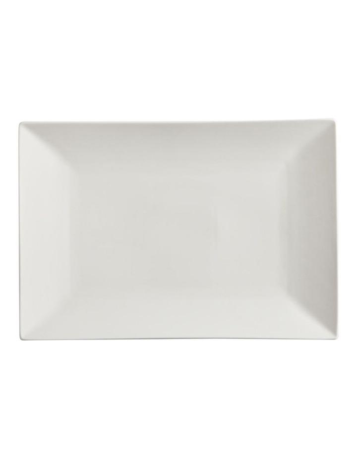 White Basics Linear Rectangular Platter 25x18cm image 1