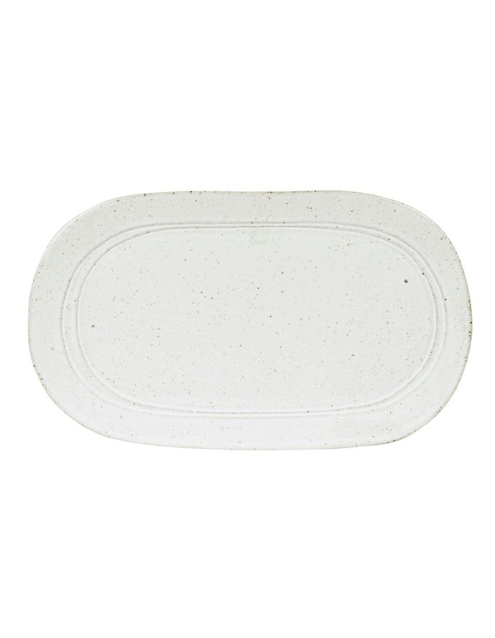 Gatherings Oval Tray 36x28cm White image 1