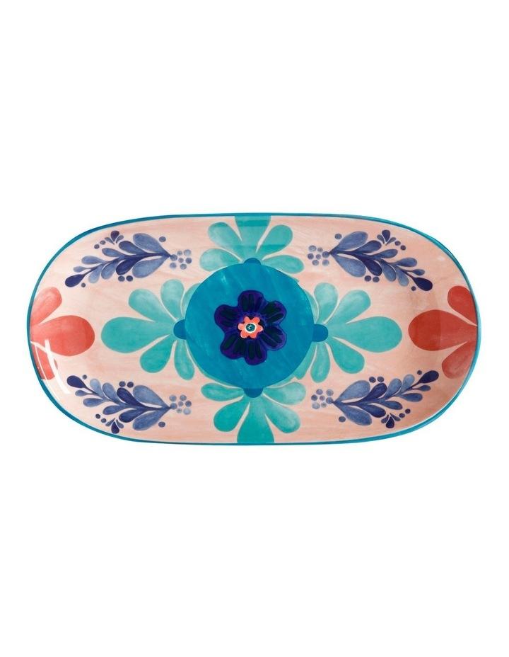 Majolica Oblong Platter 33x17cm Peach Gift Boxed image 1
