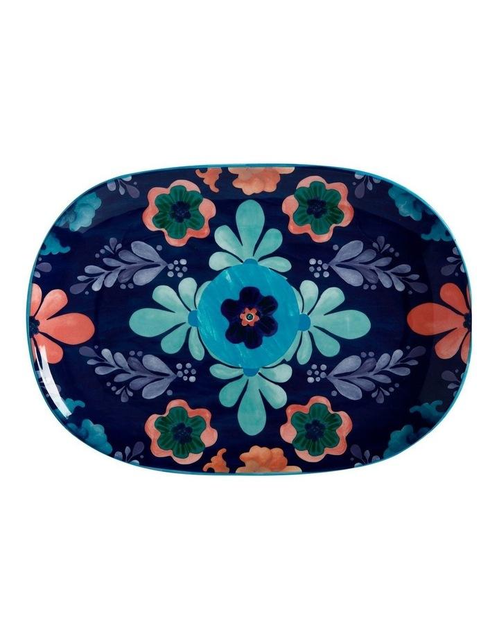 Majolica Oblong Platter 40x28cm Blue Gift Boxed image 1