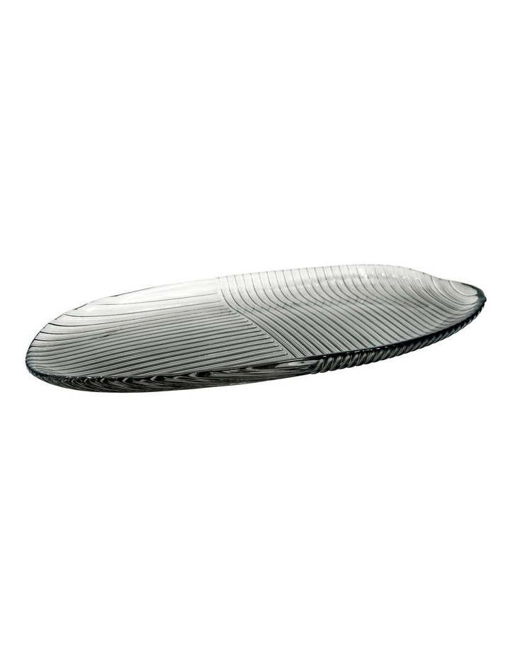 Lago Serving Plate - 40x20cm - Smoke image 1