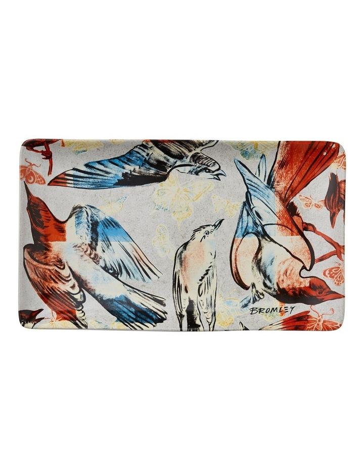Bromley Rectangle Platter - Red & Blue Birds image 1