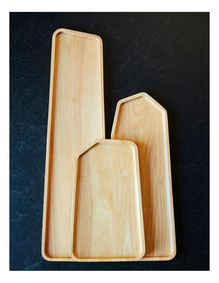 Wooden Serving Platter Rectangular Large image 2