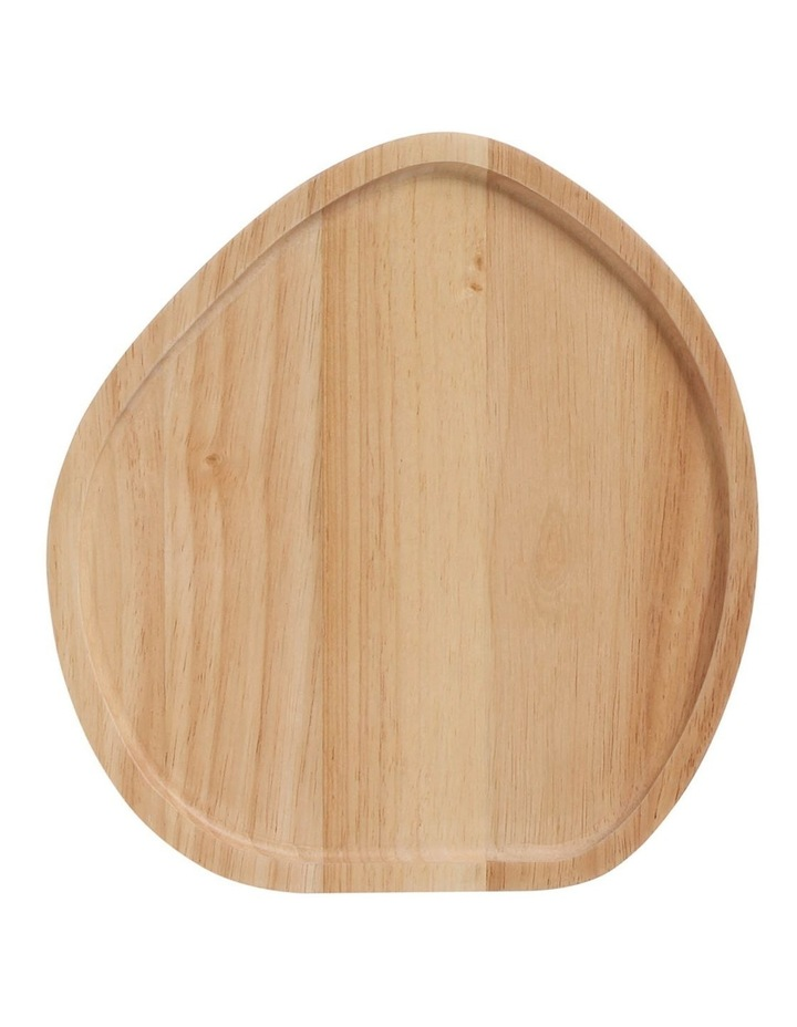 Wooden Serving Platter Round Small image 1