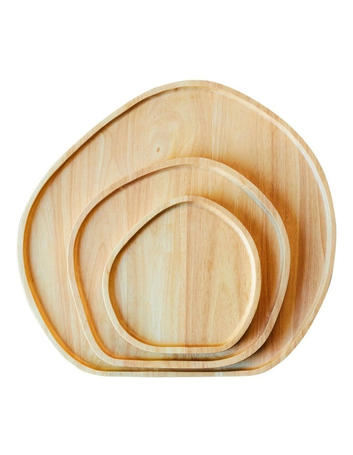 Wooden Serving Platter Round Small image 3