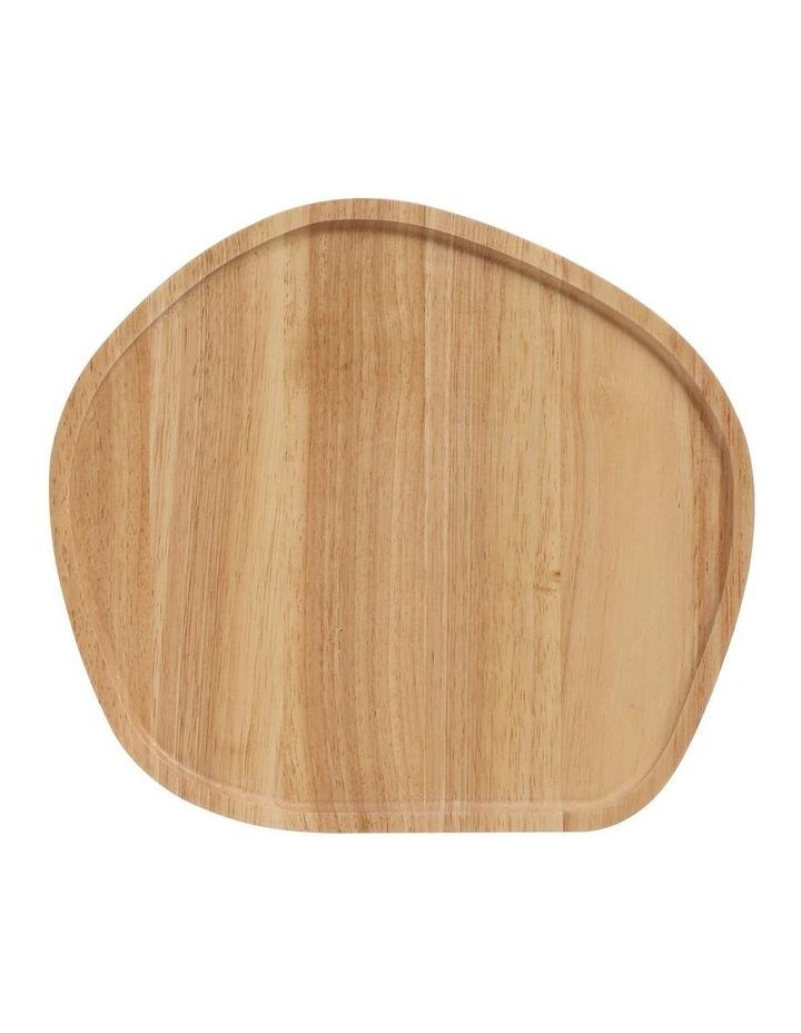 Wooden Serving Platter Round Medium image 1