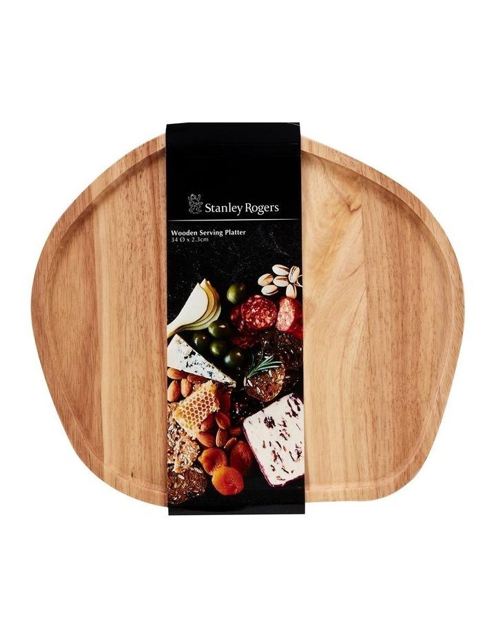 Wooden Serving Platter Round Medium image 2