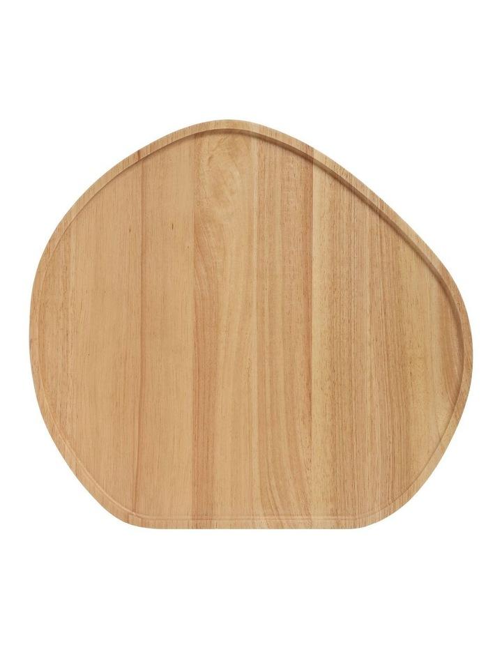 Wooden Serving Platter Round Large image 1