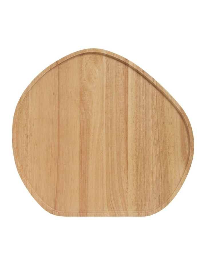 Wooden Serving Platter Round Large image 1