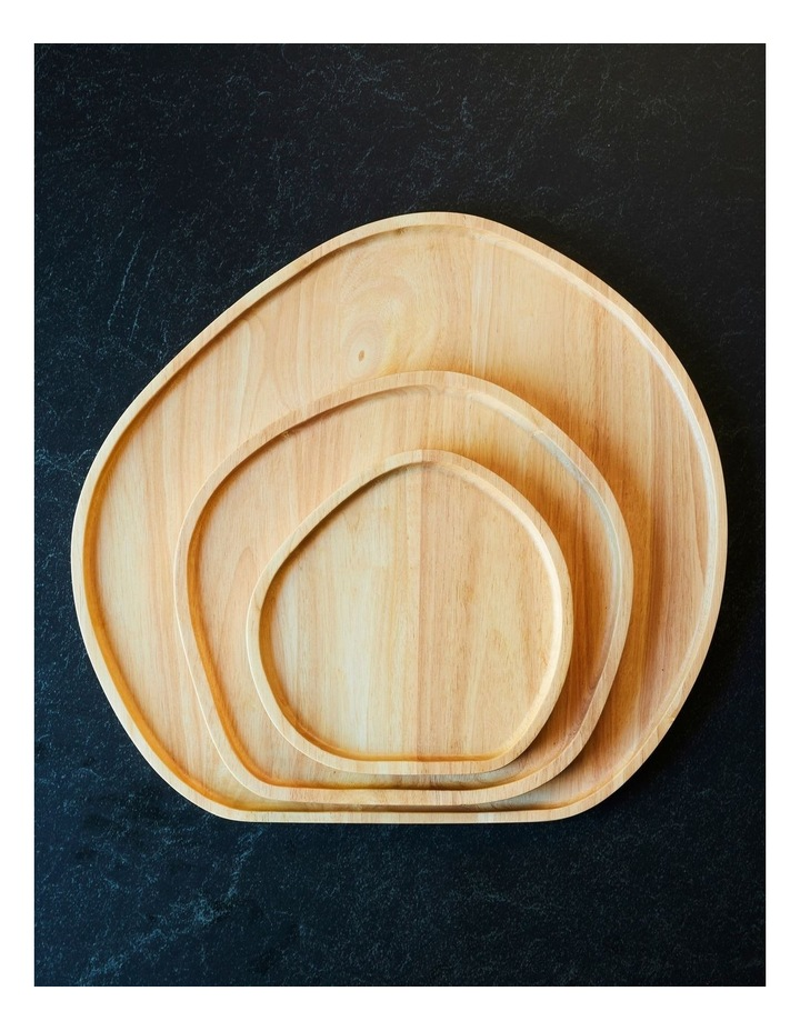 Wooden Serving Platter Round Large image 3