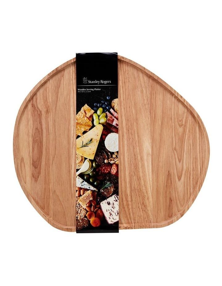 Wooden Serving Platter Round Large image 4