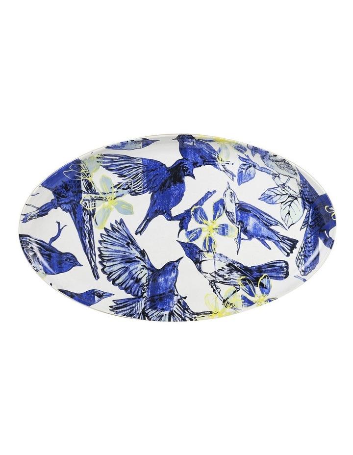 Bromley Oval Platter - Blue Birds image 1