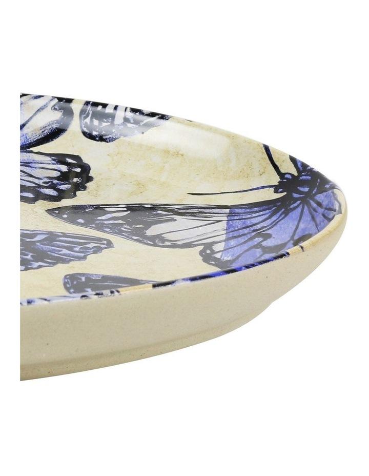 Bromley Oval Platter - Blue Butterflies image 2