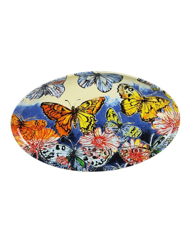 Bromley Oval Platter - Butterfiles Dip Painted 3 image 1