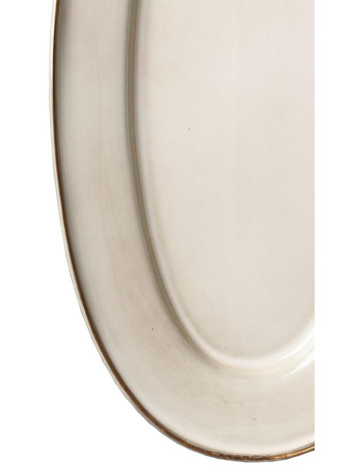 Flat Rim Reactive Large Serving Platter - Taupe image 3