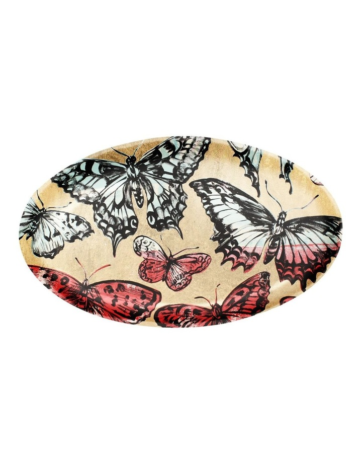 Robert Gordon X Bromley Platter Oval - Gold Butterflies image 1
