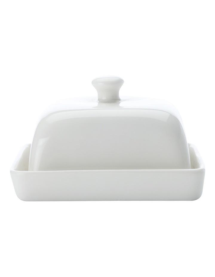 'White Basics' Rectangular Butter Dish 15cm (Gift Boxed) image 2