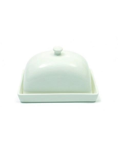 'White Basics' Rectangular Butter Dish 15cm (Gift Boxed) image 1