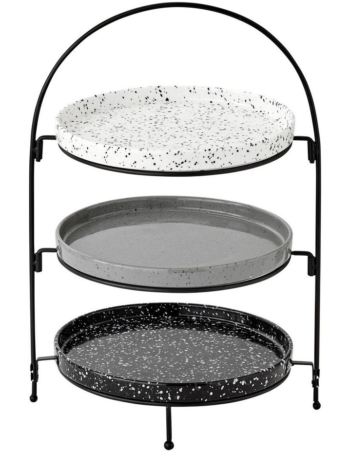 Terrazzo Assorted 3 Tier Round Serving Tower image 1