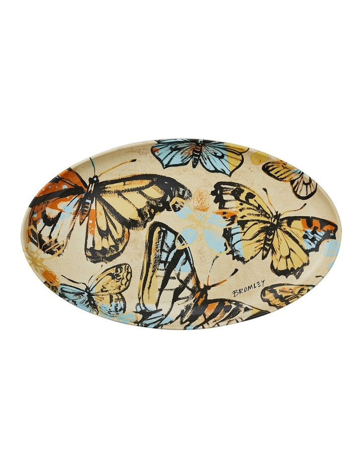 Bromley Oval Platter - Yellow Butterflies image 1