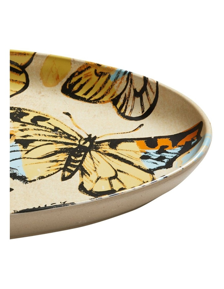 Bromley Oval Platter - Yellow Butterflies image 2