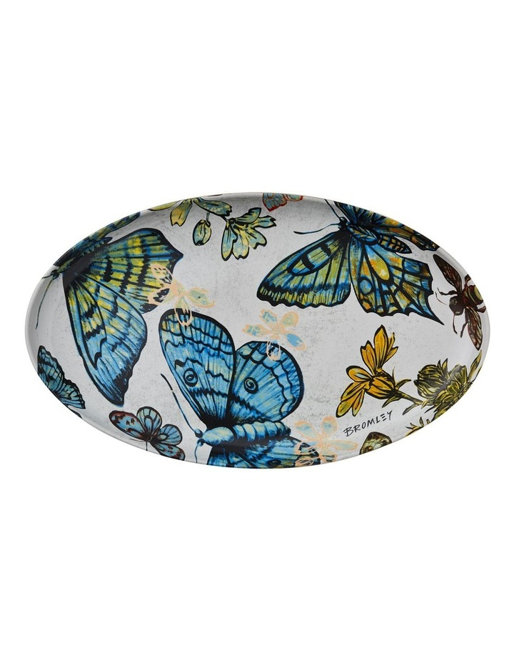Bromley Oval Platter - Butterflies image 1