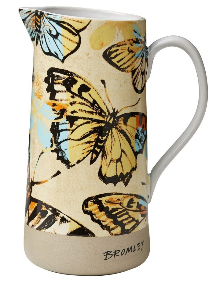 Bromley Large Jug with Handle - Yellow Butterflies image 1