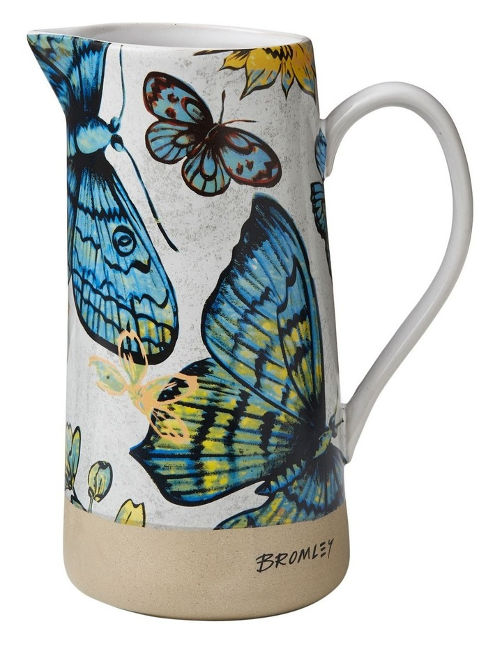 Bromley Large Jug with Handle - Butterflies image 1