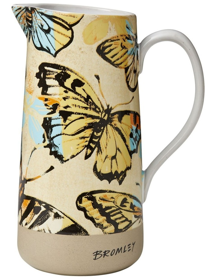 Bromley Med Jug with Handle - Yellow Butterflies image 1