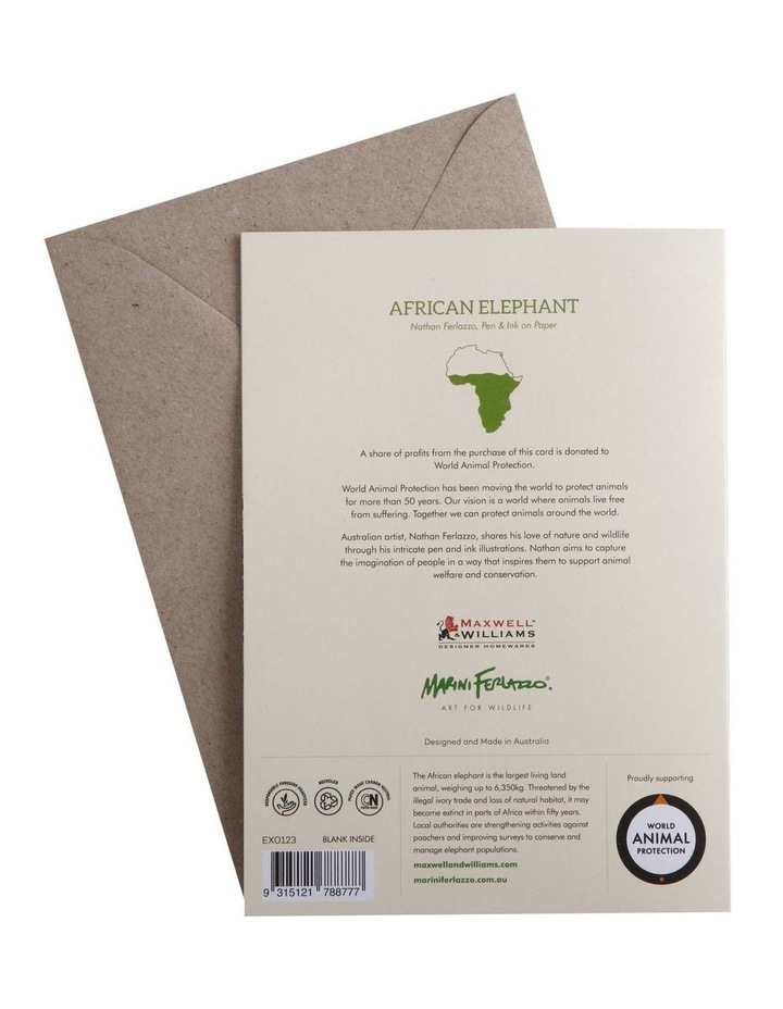 Marini Ferlazzo Greeting Card African Elephant image 2