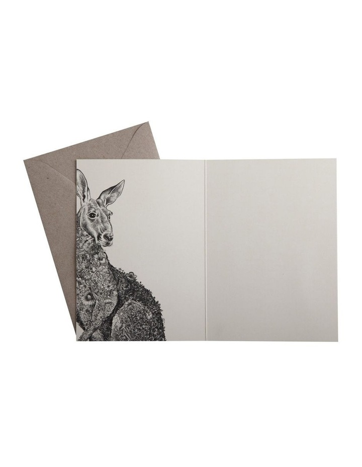 Marini Ferlazzo Greeting Card Red Kangaroo image 3
