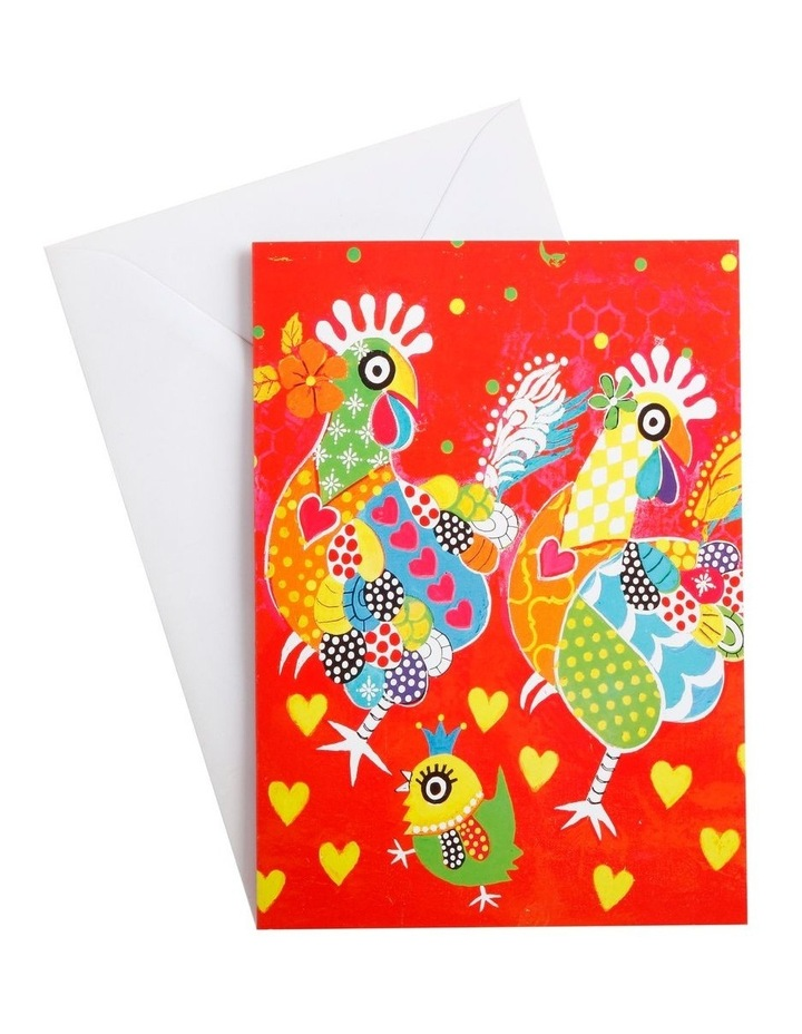 Love Hearts Greeting Card Chicken Dance image 1