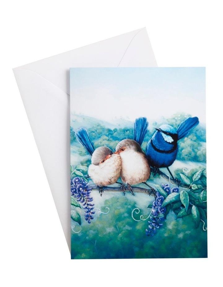 Birds of Australia KC 10yr Anniversary Greeting Card Splendid Fairy Wren image 1