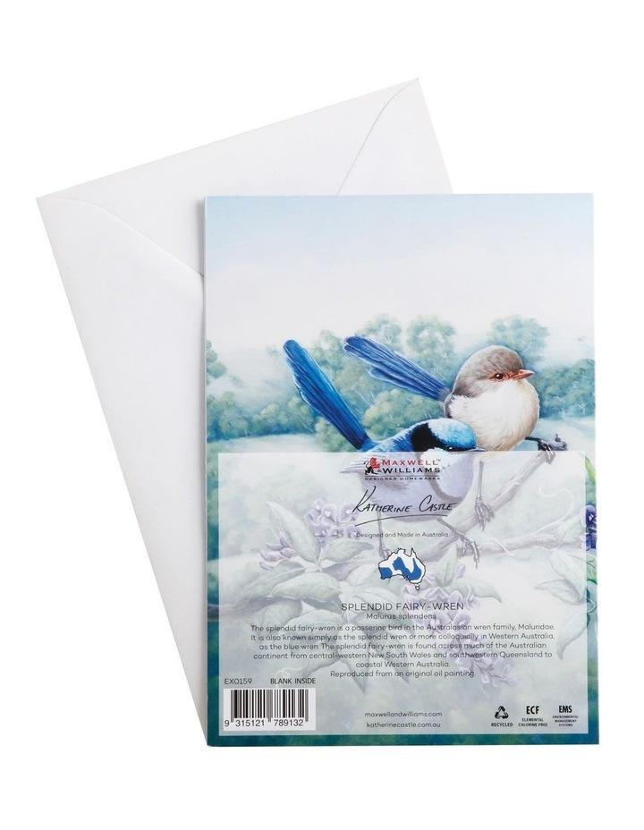 Birds of Australia KC 10yr Anniversary Greeting Card Splendid Fairy Wren image 2