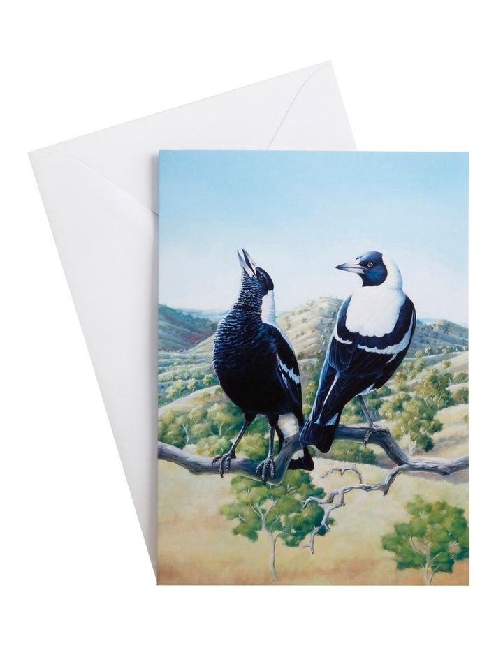 Birds of Australia KC 10yr Anniversary Greeting Card Magpie image 1