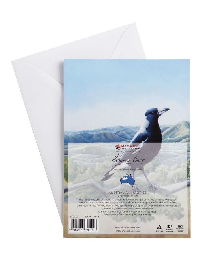 Birds of Australia KC 10yr Anniversary Greeting Card Magpie image 2