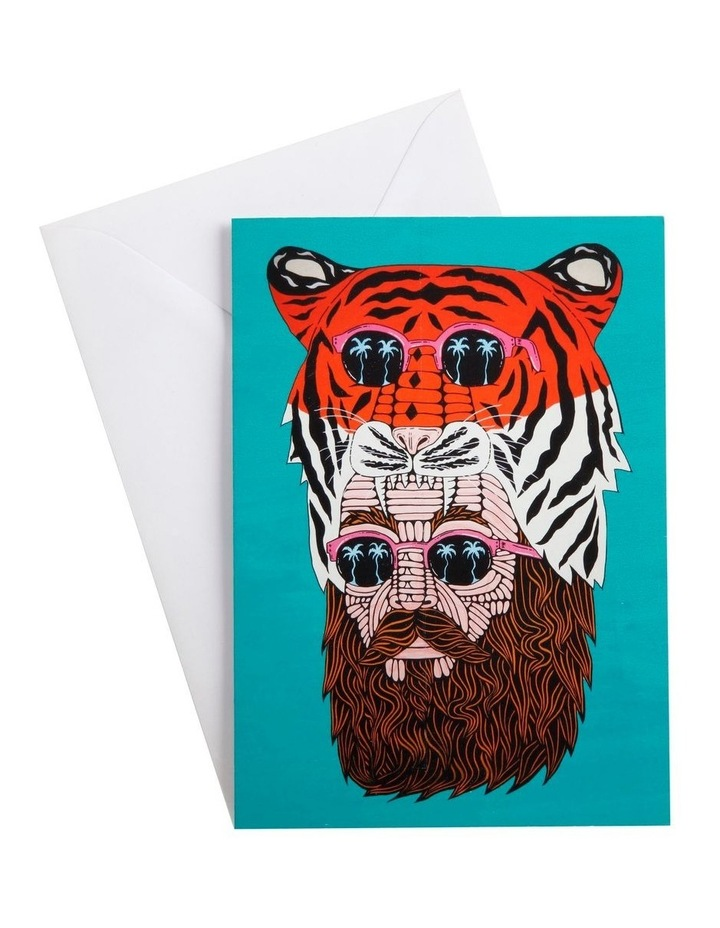 Mulga the Artist Greeting Card Tiger Man image 1
