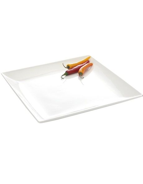 White Basics Soho' Square Platter  Available in 2 Sizes image 1