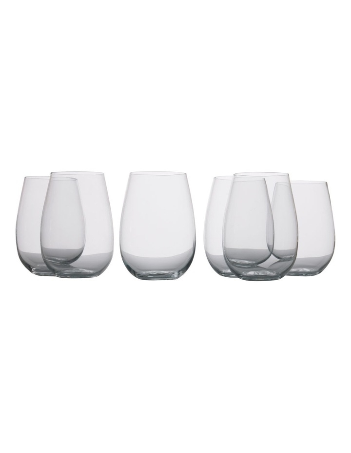 Mansion Stemless White Wine Glass  Set of 6 Gift Boxed  500ml image 1