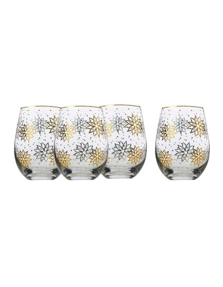 Starry Night Stemless Wine Glass Set of 4 Gift Boxed image 1