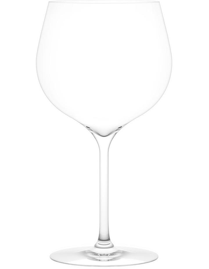 Vintage White B Wine Glass Set of 2 image 1
