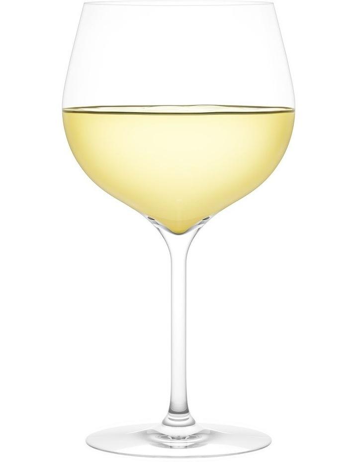 Vintage White B Wine Glass Set of 2 image 2