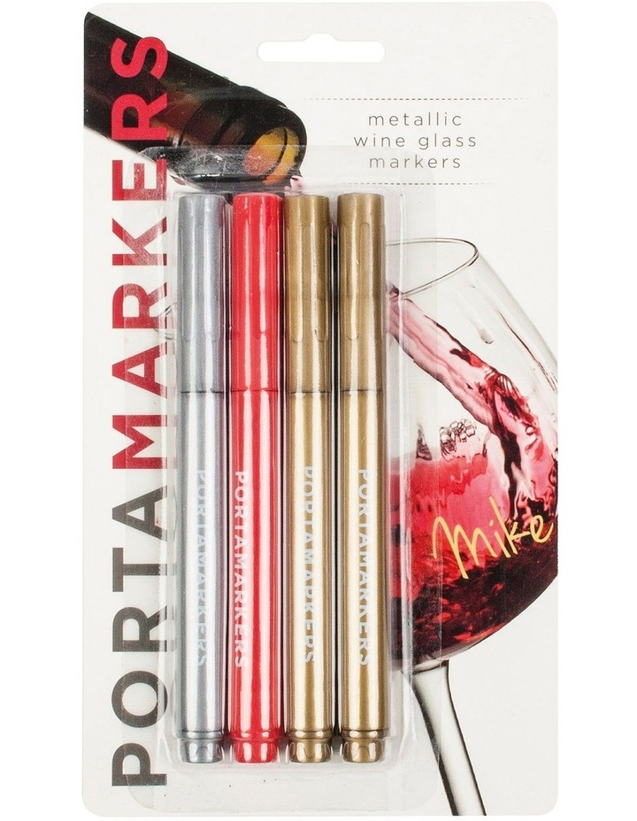 Metallic Glass Markers 4 Pack image 1