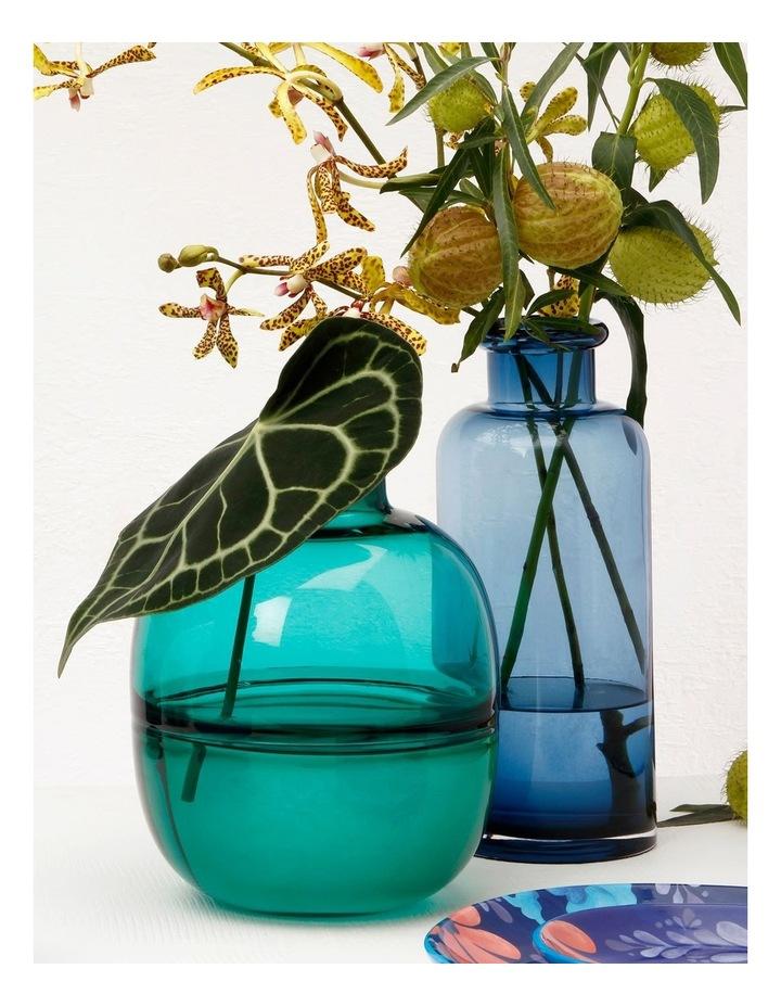 Flourish Bottle Vase 30cm Blue image 2