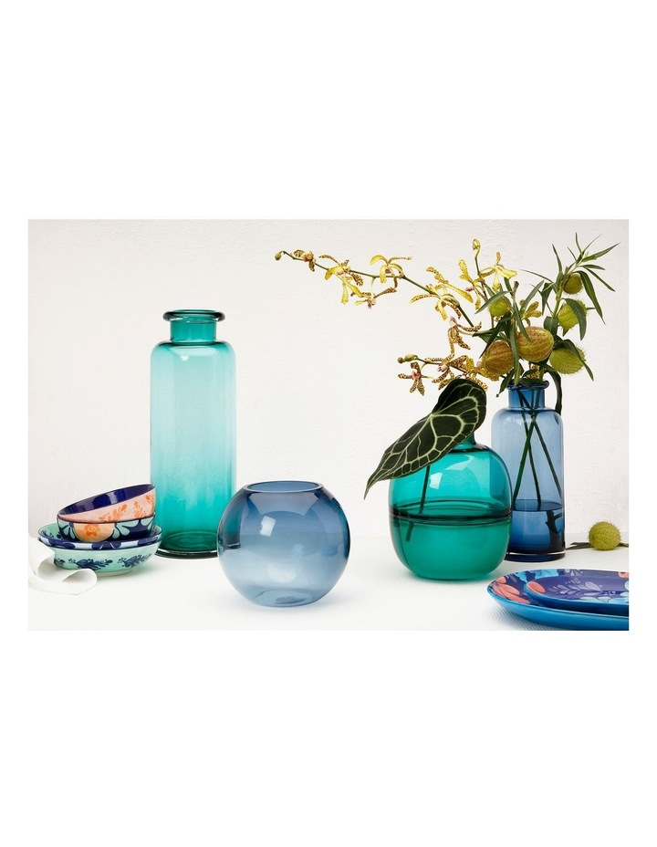 Flourish Bottle Vase 34cm Blue image 2