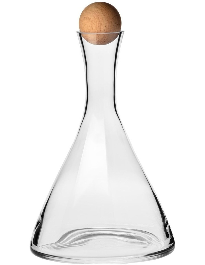 Connoisseur Wine Decanter Beechwood Stopper 1L Gift Boxed image 1