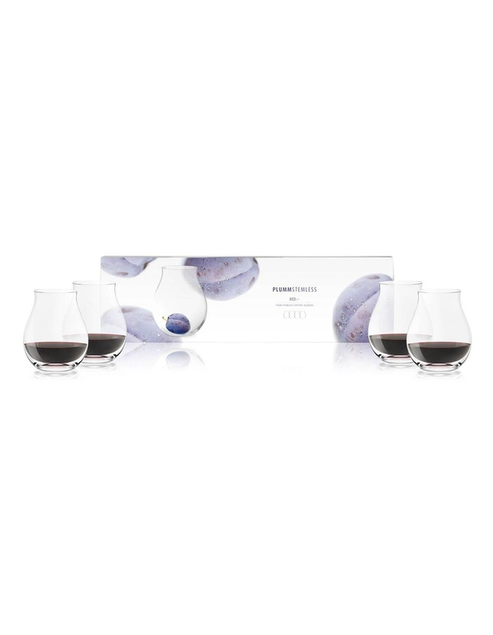 Red B Stemless 4 Pack image 1