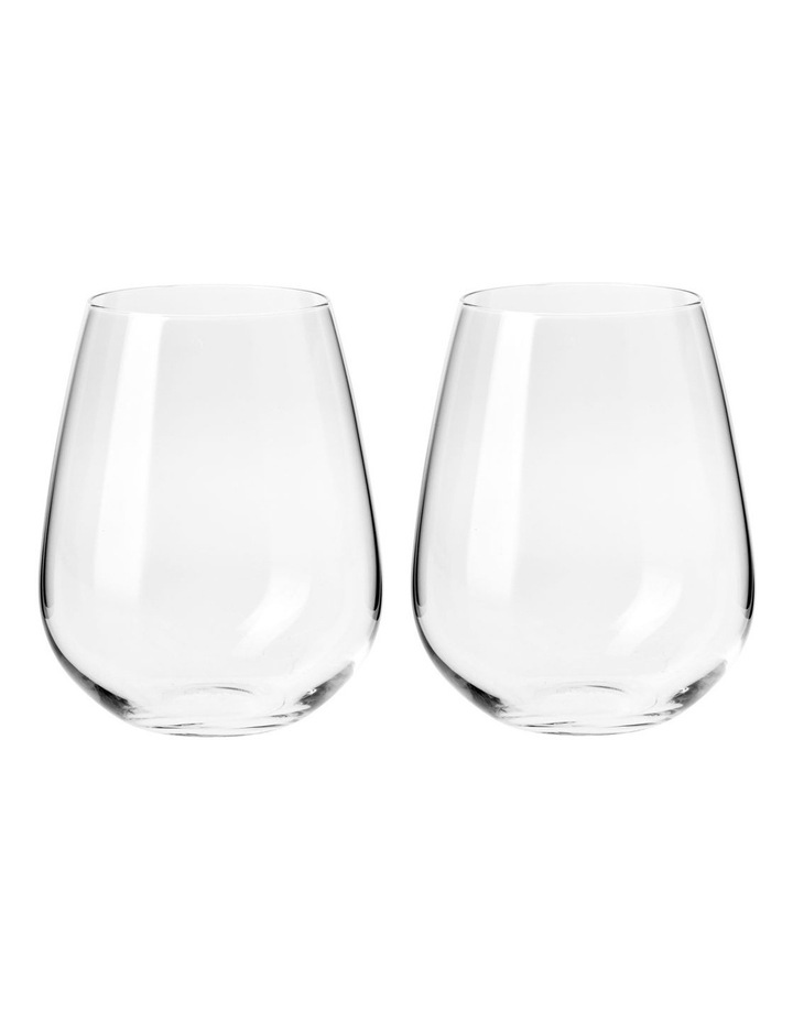 Duet Stemless Wine Glass 500 ML Set of 2 Gift Boxed image 1
